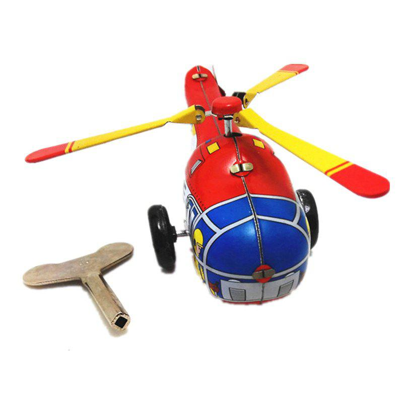 Vintage Chain Helicopters Tin Toys - multicolor