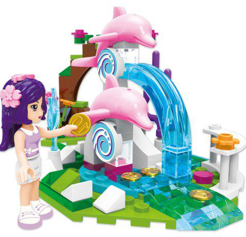 Children Play House Granule  Baby Girls Puzzle Blocks Toys - multicolor B