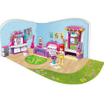 Children Play House Granule  Baby Girls Puzzle Blocks Toys - multicolor A