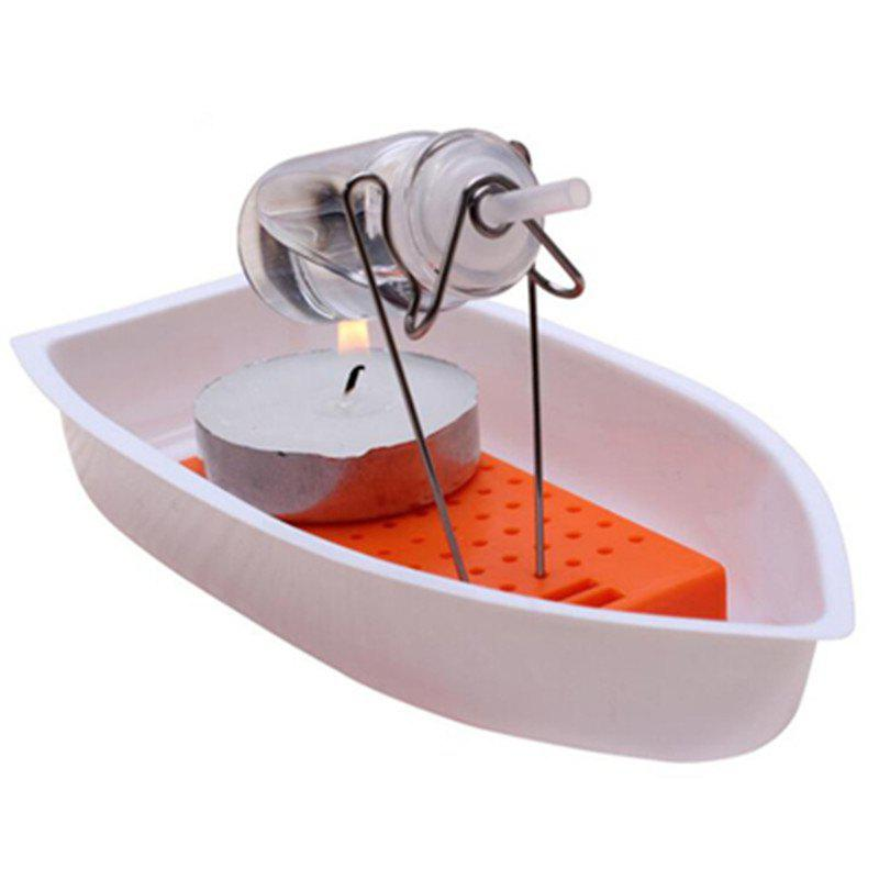 Classic Heat Steam Candle Powered Speed Boat Toy - WHITE