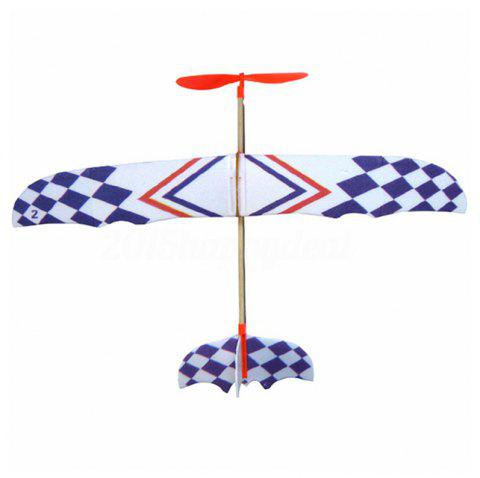 Rubber Band Powered Airplane Model for Teenager - multicolor
