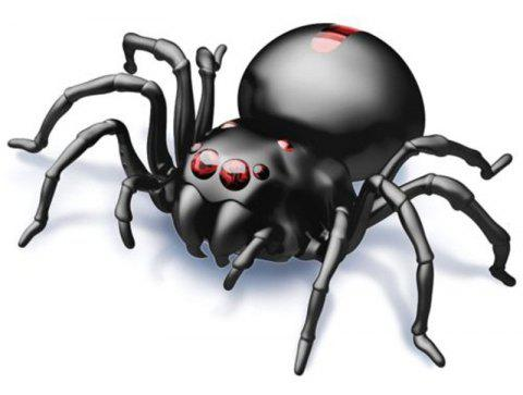 DIY Salt Water Powered Spider Educational Kit Game Toy - BLACK