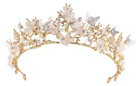 Bride Accessories Baroque Crown Hair Band - GOLDEN BROWN 6.5 X 35CM