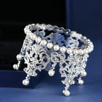 Bride Accessories Pearl Crown Furnishing Articles - WHITE 5.5 X 7CM