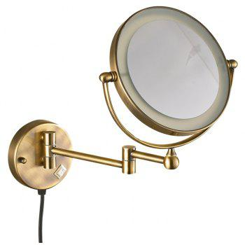 High-end Bathroom Wall Mounted Led Magnifying Makeup Mirror - SILVER