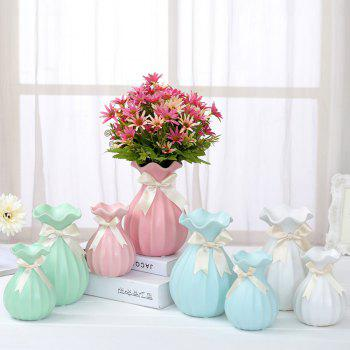 European Home Crafts Ornaments Dried Flower Ceramic Vase - multicolor A SIZE S
