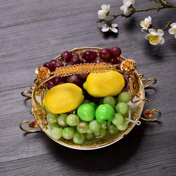 European Modern Living Room Coffee Table Decorated Ceramic Fruit Plate - WHITE