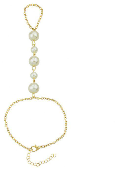 Gold-color Chain with Finger Slave Bracelet - GOLD