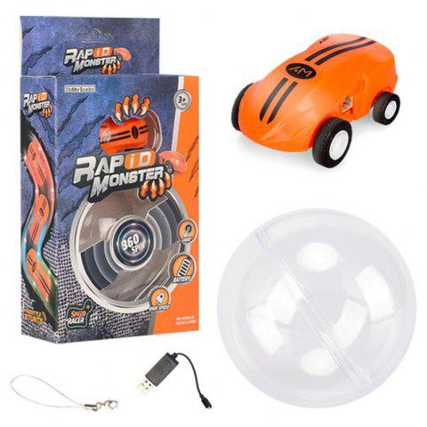 Mini High Speed Laser Chariot Rapid 360 Degree Rotation with Dazzling Lights - TANGERINE