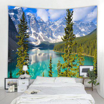 Lake Moraine 3D Printing Home Wall Hanging Tapestry for Decoration - multicolor W203CMXL153CM