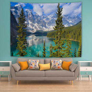 Lake Moraine 3D Printing Home Wall Hanging Tapestry for Decoration - multicolor W200CMXL180CM