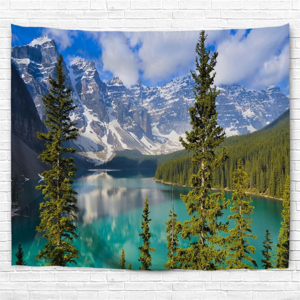 Lake Moraine 3D Printing Home Wall Hanging Tapestry for Decoration - multicolor W153CMXL102CM