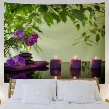 Zen Stone Candles 3D Printing Home Wall Hanging Tapestry for Decoration - multicolor W153CMXL130CM