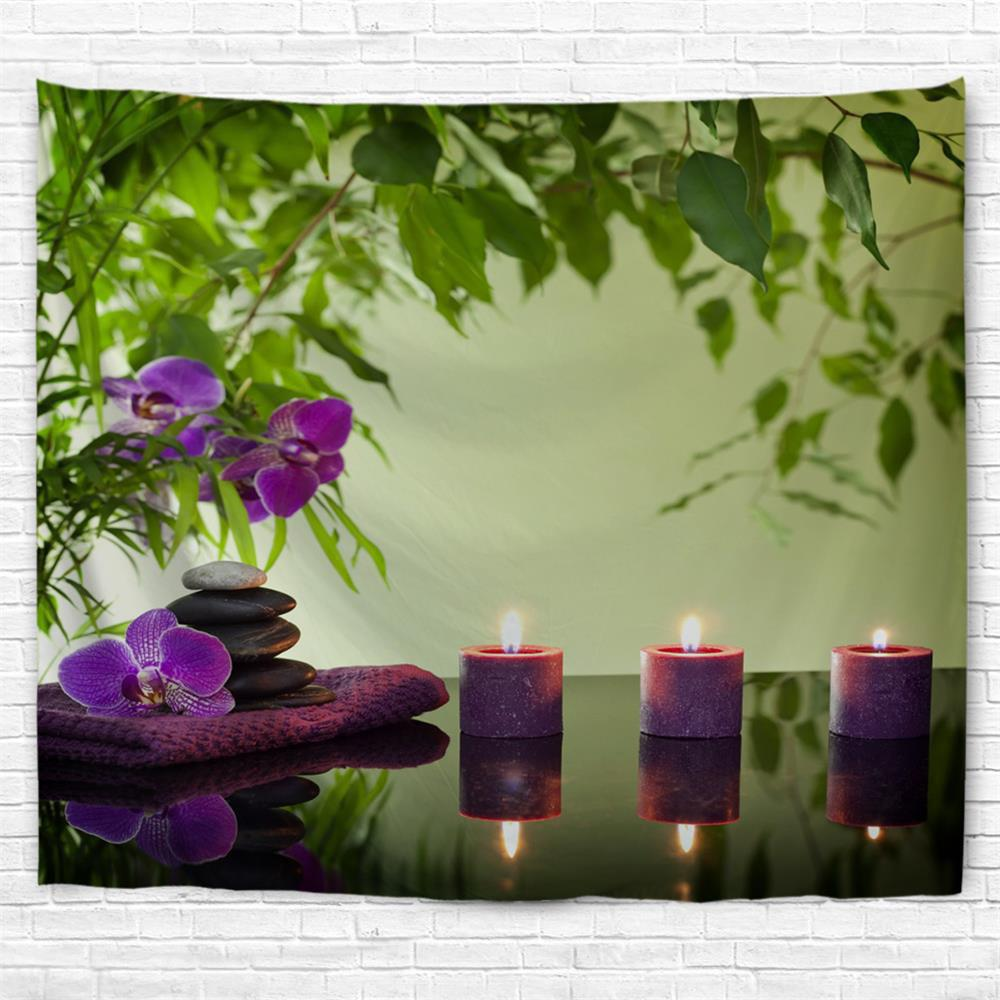 Zen Stone Candles 3D Printing Home Wall Hanging Tapestry for Decoration - multicolor W230CMXL180CM