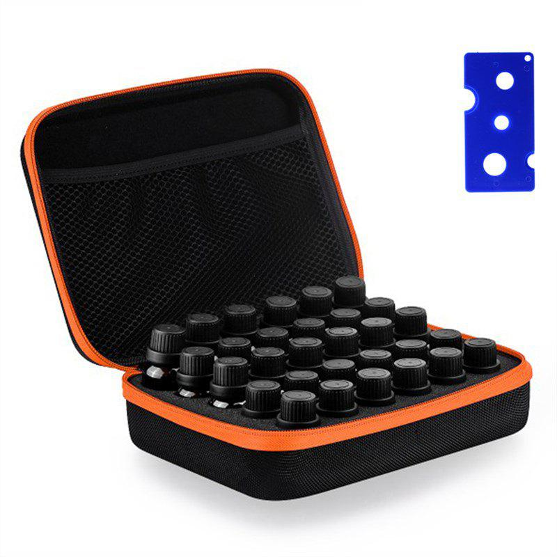Carrying Case Hold Bottle Hard Shell Exterior EVA Essential Oil Storage - ORANGE 5ML/10ML/15ML