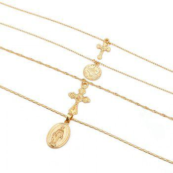 Vintage Exaggerated Personality Stylish Multi-layer Necklace - GOLD