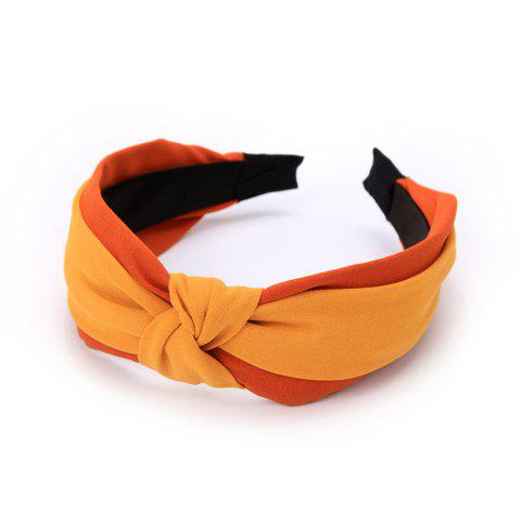 New Double Color Hoop in Spring and Summer Hairband - ORANGE GOLD