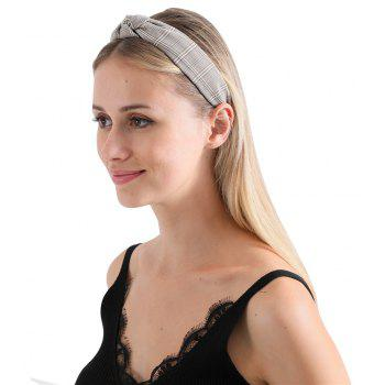 Intersected with Fashion Hoop Hairband - TAN
