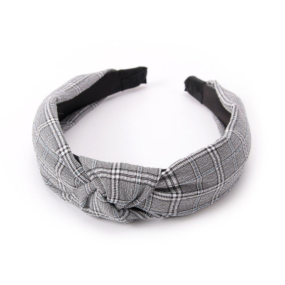 Intersected with Fashion Hoop Hairband - DARK GRAY
