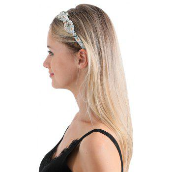 Trendy Small Flower Butterfly Knot Simple Lady Hair Hoop Hairband - LIGHT CYAN
