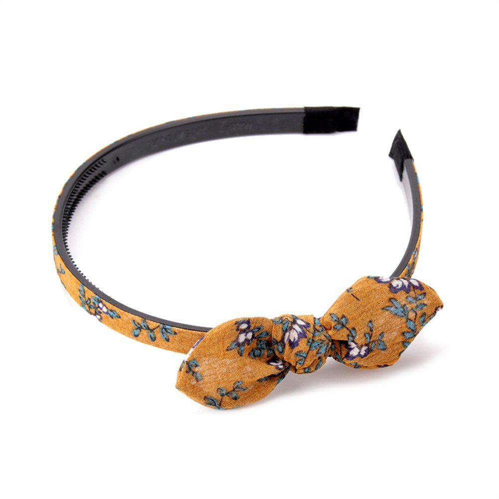 Trendy Small Flower Butterfly Knot Simple Lady Hair Hoop Hairband - ORANGE GOLD
