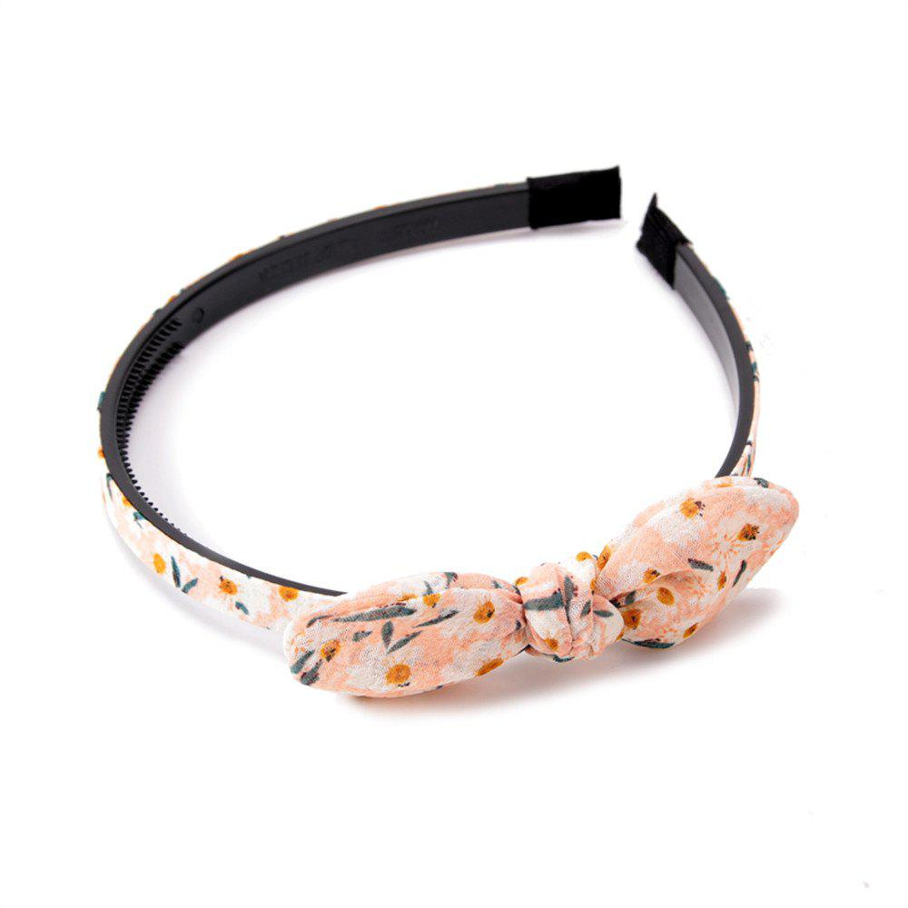 Trendy Small Flower Butterfly Knot Simple Lady Hair Hoop Hairband - PEARL