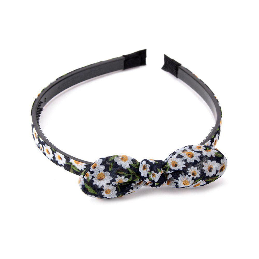 Trendy Small Flower Butterfly Knot Simple Lady Hair Hoop Hairband - CADETBLUE