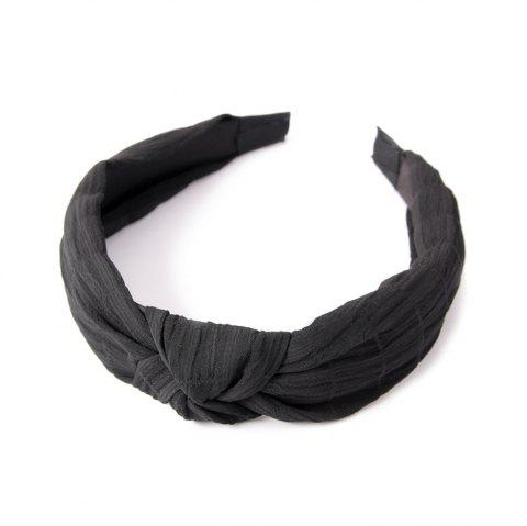 Home Travel Cross Knot Fresh Sweet Hairband - BLACK