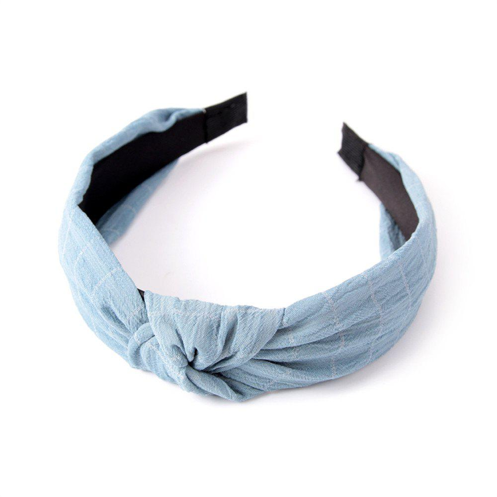 Home Travel Cross Knot Fresh Sweet Hairband - LIGHT BLUE