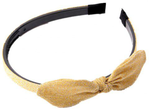 Home Wash Travel Travel Shiny Solid Color Bow Headband - GOLDEN BROWN