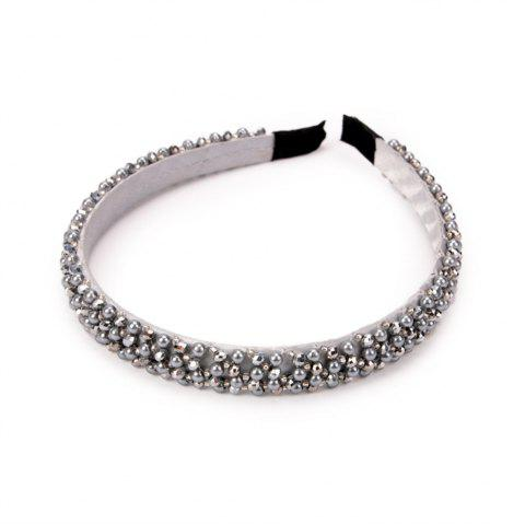 Trendy Hair Ornaments Diamond Hairband - PLATINUM