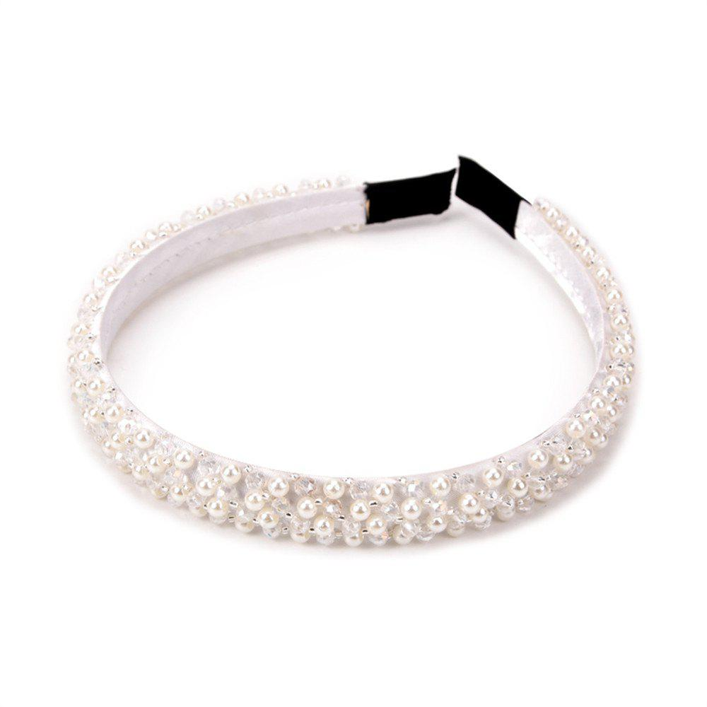 Trendy Hair Ornaments Diamond Hairband - WHITE