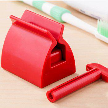 anya Creative Toothpaste Tube Squeezer Dispenser Bathroom Accessories - RED