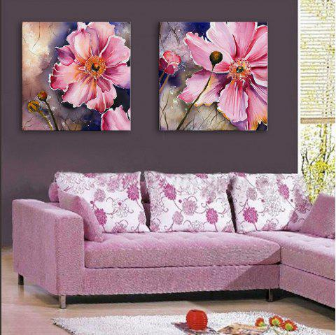 Special Design Frameless Paintings Gorgeous Purpie Rose Flowers of 2 - MAGENTA 20 X 20 INCH (50CM X 50CM)