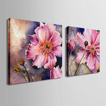 Special Design Frameless Paintings Gorgeous Purpie Rose Flowers of 2 - MAGENTA 16 X 16 INCH (40CM X 40CM)