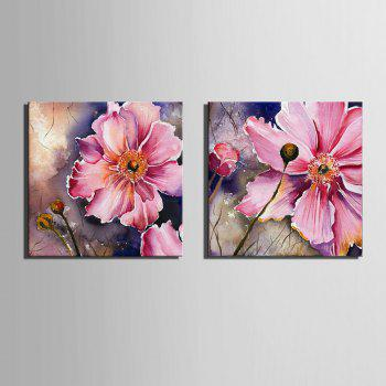 Special Design Frameless Paintings Gorgeous Purpie Rose Flowers of 2 - MAGENTA 12 X 12 INCH (30CM X 30CM)