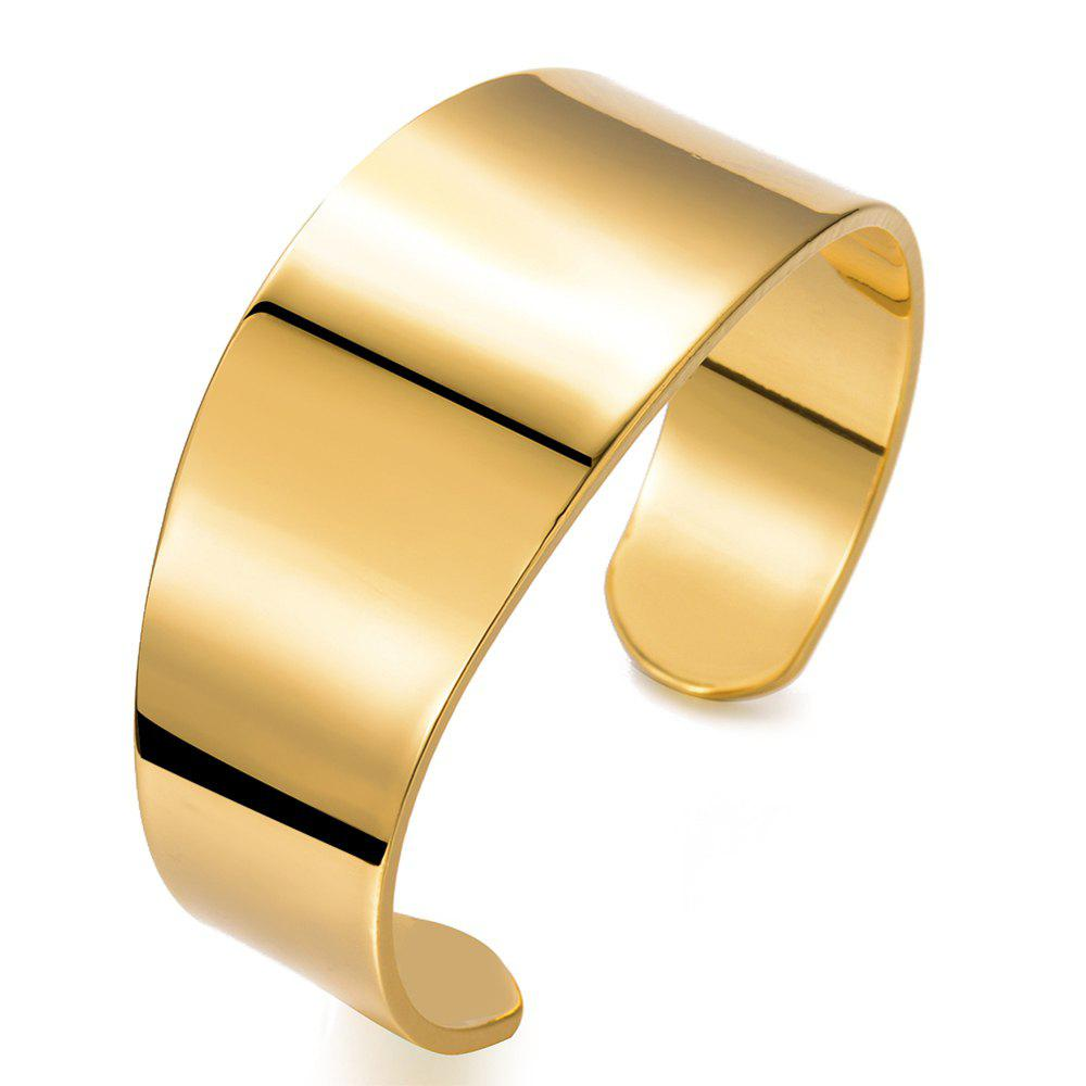 Glossy Gold-Plated Ladies Bracelet Bangle - YELLOW
