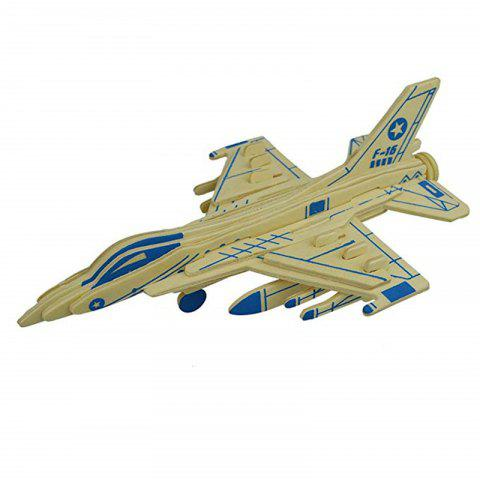 3D Wooden Aircraft Puzzle Warcraft - WOOD