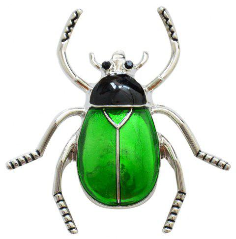 Enamel Beetle Brooch Fashion Animal Insect Pin for Women Coat Accessory - SPRING GREEN