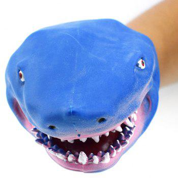 Blue Simulation Shark Glove Doll Storytelling Toy - BLUE