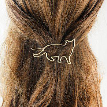 Hollow-out Animal Cat Hairgrip Hairwear for Women - GOLD