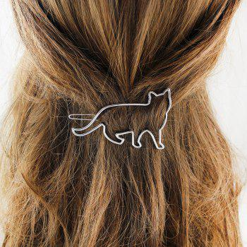 Hollow-out Animal Cat Hairgrip Hairwear for Women - SILVER