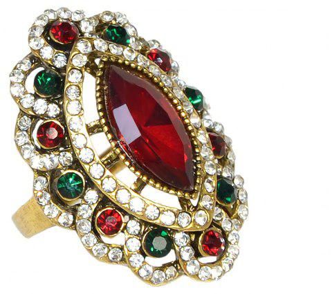 Vintage Style Luxury Rhinestone and Stone Ring for Women - CHILLI PEPPER US SIZE 7