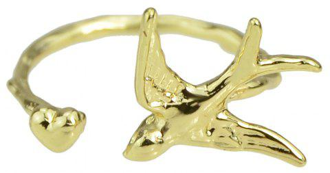 Cuff Ring Finger Animal Bird Knuckle - GOLD ONE-SIZE