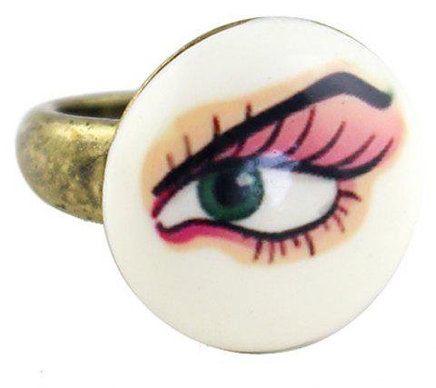 Enamel Cute Eye Design Rings for Women - GOLD ONE-SIZE