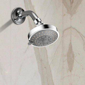 Shower Head High Pressure 4 Inch 5 - Setting Adjustable Rainfall - SILVER