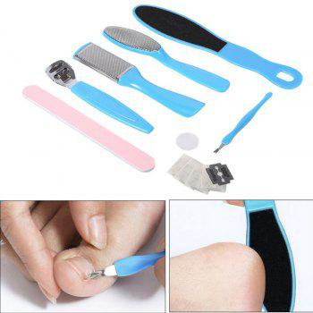 12pcs Foot File Set Dead Skin Callus Remover Pedicure Rasp Tools - SKY BLUE