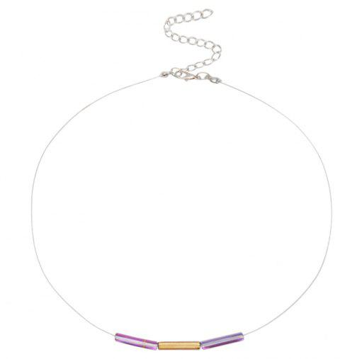 Creative Simple Personality Crystal Necklace - multicolor D