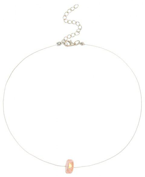 Creative Colorful Crystal Clavicle Chain - YELLOW