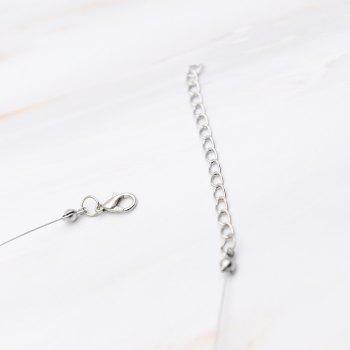 Creative Colorful Crystal Clavicle Chain - TRANSPARENT